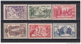 1937    YVERT  Nº 143 / 148   / * / - Guayana Francesa (1886-1949)