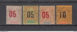 1912   YVERT  Nº  111 / 114   / * / - Madagaskar (1889-1960)
