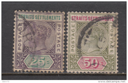 1892 - 1901   YVERT  Nº  72 , 73 - Straits Settlements