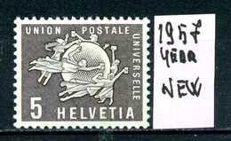 SVIZZERA - HELVETIA - Year 1957 - Nuovo - New - Fraiche - Frisch - MLH * - Servizio