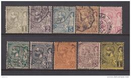 1891 - 1892   YVERT  Nº  11 / 20 - Usados