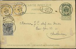 Carte N° 23. Obl. Stavelot 10/03/1894  Pour Amsterdam (NL) - Entiers Postaux
