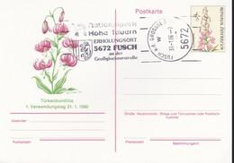 Austria Republik Osterreich POSTKARTE 1986 STORIA POSTALE S 4,00  FIORI. - Interi Postali