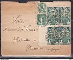 Carta , Amiens  A Barcelona - Covers & Documents
