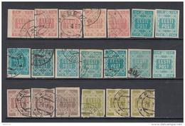 1918 - 1919  MICHEL  Nº 1B , 2B , 3 , 4 - Estonia