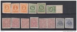 1919   MICHEL   Nº  6 , 8 , 9 , 11 ,   ** / * - Estonia