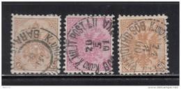 1900 - 01   YVERT   Nº 14a , 16a , 18a - Bosnia Herzegovina