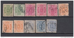 1885  YVERT  Nº  21 , 22 , 23 , 24 - Usados