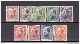 1930   EDIFIL  Nº  490 /  498  / * / - 1889-1931 Königreich: Alphonse XIII.