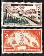 MONACO 1956 -  Y.T. SERIE N° 442 ET 443 - 2 TP NEUFS** /12 - Ongebruikt