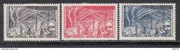 1957  Yvert Nº 8 / 10  /*/, - Tierras Australes Y Antárticas Francesas (TAAF)
