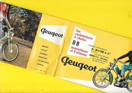 """Publicité """"PEUGEOT"""" Vélomoteurs BB Format 12 X 19 Cm Env. Replié. - Motorfietsen"""