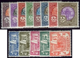Indochina. Sc #J44-J56. Postage Due. * - Indochina (1889-1945)
