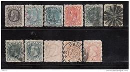 1882 - 1885   YVERT   Nº 51 / 56 - Brasil