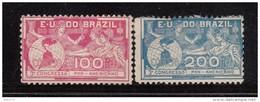 1906     YVERT  Nº  126 / 127    / * / - Brasil