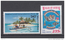 2001 AEREO   YVERT N  191 , 192  /  ** / - Wallis Y Futuna