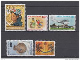 2001 AEREO   YVERT N  195 , 196 , 197 ,  198 , 199     /  ** / - Wallis Y Futuna
