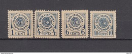 1902   YVERT  Nº 1 / 4   / * / - Dänemark (Antillen)