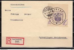 Lokalausgabe , Brief  Bad Nauheim 21.3.46 ,  Mi. 5 II - Soviet Zone
