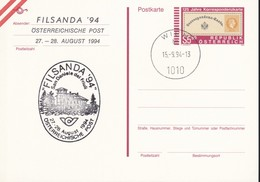 Austria Republik Osterreich POSTKARTE 1994 STORIA POSTALE S 5,50  FILSANDA '94. - Interi Postali