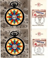 Rallye Philatec 1964 - Saint-Malo GB UK GPO - Pontarlier Autriche Osterreich - 2 Cartes - Marcophilie (Lettres)