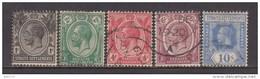 1918 - 1921   YVERT  Nº 160 / 164 - Straits Settlements