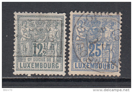 1882 - 91  YVERT  Nº 52 , 54 - 1882 Alegorias