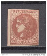 1873  YVERT  Nº  40   / * / - 1870 Ausgabe Bordeaux