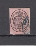 1855  EDIFIL  Nº 36  Matasellos Fechador  Azul - Gebraucht