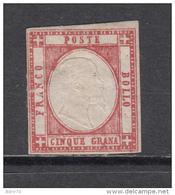 1861   Sassone  Nº  21 ,  YVERT  Nº 14  ( * ) - Neapel