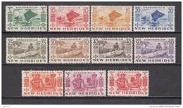 1953    YVERT  Nº 144 / 154   / */ - Leyenda Inglesa