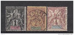 1892     YVERT  Nº 1 , 2 , 3 - Usati