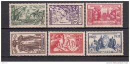 1937      YVERT  Nº   121 / 126    / * / - Ongebruikt