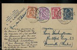 Carte N° 123 + Complèment (et -10%) Obl. Huy 1  Touristique Du 02/11/52 - Entiers Postaux