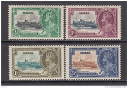 1935    YVERT  Nº  171 / 174    / * / - Malta