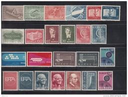 1966 - 67    VARIOS  SELLOS     / * / - Noruega