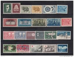 1964 - 65    VARIOS  SELLOS     / * / - Noruega