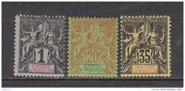 1892    YVERT  Nº  59 , 65 , 76 ,    / * / - St.Pedro Y Miquelon