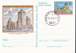 Austria Republik Osterreich POSTKARTE 1986 STORIA POSTALE S 5,00  CASTELLO GROPPENSTEIN. - Interi Postali