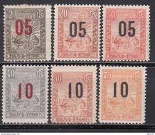 1912   Yvert Nº 115 / 120  /*/ - Madagaskar (1889-1960)
