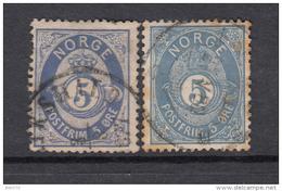 1877 - 78    YVERT Nº 24 , 24a - Noruega