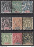 1896-99   Yvert Nº 28, 31, 33, 35, 36, 41, 42A, 43, 46, - Madagascar (1889-1960)