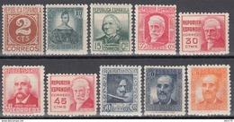 1936 - 1938 EDIFIL Nº 731 / 740  /**/ - 1931-50 Ungebraucht