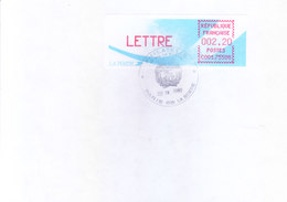 FRANCE : OFFICIAL METER FRANKED POSTAL LABLE WITH CANCELLATION : YEAR 1988 : ISSUED FROM PARIS - France