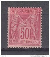 1884 - 90 YVERT N 98 MHN / ** / - 1876-1898 Sage (Tipo II)