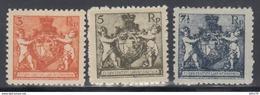 1920  YVERT Nº  46A, 47A, 48A,  /*/, Dt. 12½ - Liechtenstein