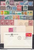 NACIONES UNIDAS, Lote De Sellos Y Cartas, /*/ - New York - Sede De La Organización De Las NU