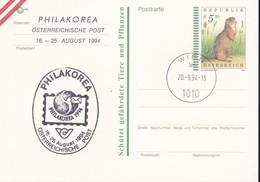 Austria Republik Osterreich POSTKARTE 1994 STORIA POSTALE S 5,50  PHILAKOREA 1994. - Interi Postali