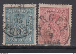 1867   YVERT Nº 14, 15, - Noruega