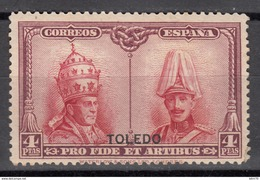 "Sobreimpresion  "" TOLEDO""    1926  Edifil Nº 416H  / * / - 1889-1931 Königreich: Alphonse XIII."